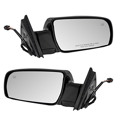 1999 99 Chevy Tahoe Mirror (Driver and Passenger Power Side View Mirrors Heated Replacement for Chevrolet Cadillac GMC Pickup Truck 15764747 15764748)