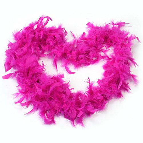 2M Rose Red Feather Boa Fluffy Party Decoration