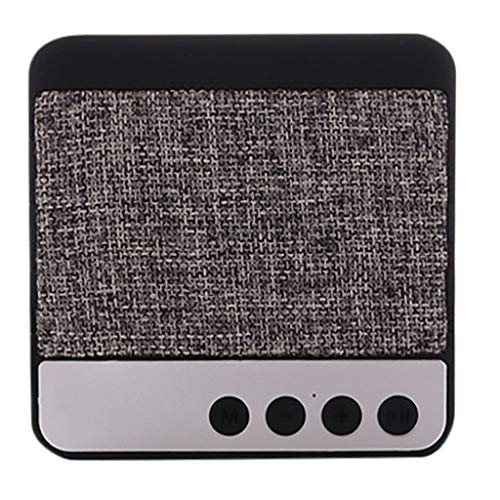 Redvive Top Square Bluetooth Speaker Outdoor Portable Mini Vintage Fabric Bluetooth Speaker