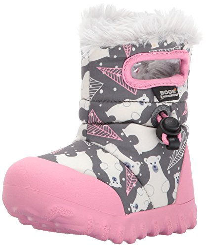 Bogs Winter Grey Moc Insulated Toddler Kids' Dark Bears Waterproof B Multi Boot fxr7Bqf