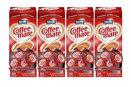 NESTLE COFFEE-MATE Coffee Creamer, Cinnamon Vanilla Crème, 0.375oz liquid creamer singles, 50 count, Pack of 200