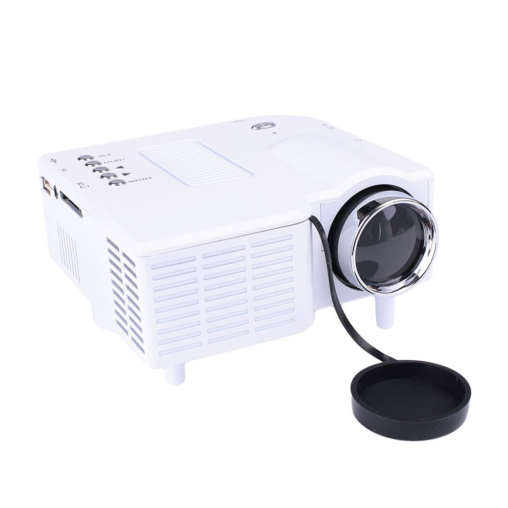 LED Projector Home Multimedia Projector Premium HDMI/VGA/SD/AV Port 300:1 School Cinema Video by ZZH