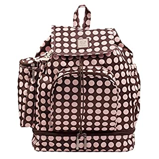 Kalencom Heavenly Dots Diaper Backpack Chocolate/Pink