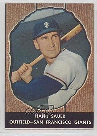 Amazoncom Hank Sauer Baseball Card 1958 Hires Root Beer