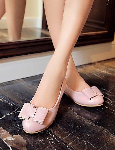 Finta Bianco Scarpe Rosa Rosso Beige Nero Piatto Ballerine Pink pelle arrotondata ShangYi Punta Casual Donna 07wAwqfS