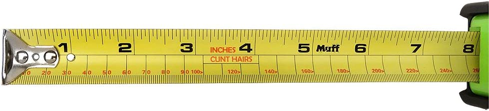 Muff Products Landing Strip 30 Foot//Cunt Hair Measuring Tape Measure Gag Gift Funny Tools