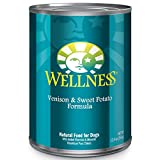 Wellness Complete Health Natural Wet Canned Dog Food, Venison & Sweet Potato, 12.5-Ounce Can (Pack of 12)