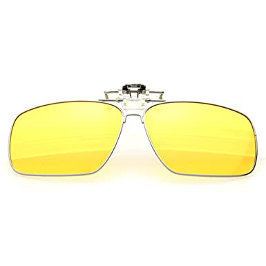 Inlefen Clip polarizado en gafas de sol Metal Flip up Clip ...