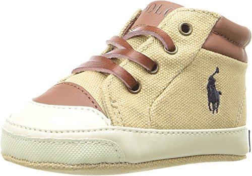 Polo Ralph Lauren Kids Baby Boy's Geffron Mid Zip (Infant/Toddler) Khaki Shoe ()