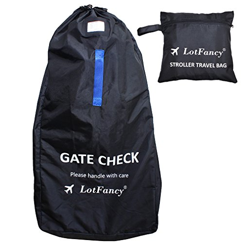 LotFancy Stroller Bag for Standard & Double Strollers, Ideal for Travel & Gate Check, Water-resistant (Size 47 x 23 x 14 inch) by LotFancy
