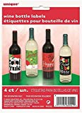 Pinsbury Christmas Wine Bottle Labels 4
