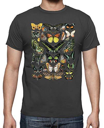 Grigio shirt Uomo Tostadora Farfalle T IwAxq1gX