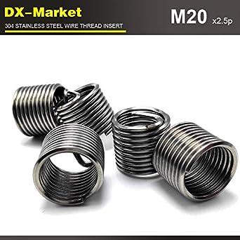 Ochoos m202D2.5P Stainless Steel auto Repair Tools Insert 304 Engine Thread Repair Fasteners 20pcs
