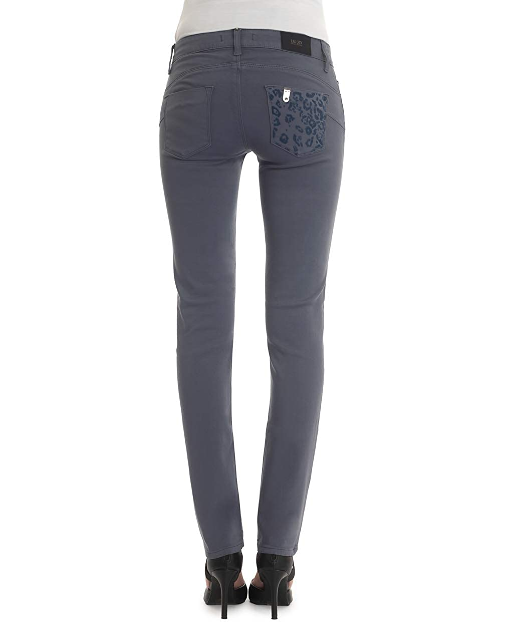 Liu Jo Jeans Donna Pantaloni Bottom Up W65139 T8179-2 Grigio