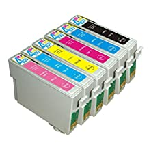 6 Pack - Remanufactured Ink Cartridges for Epson #98 #99 T098 T099 T098120 T099220 T099320 T099420 T099520 T099620 Inkjet Cartridge Compatible With Epson Artisan 700 Artisan 710 Artisan 725 Artisan 730 Artisan 800 Artisan 810 Artisan 835 Artisan 837