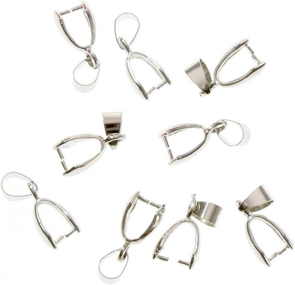 Accesorios para la creación de bisutería - Enganches para colgantes, 13x 4mm, 10piezas