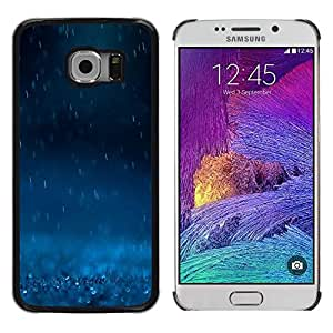 Be Good Phone Accessory // Dura Cáscara cubierta Protectora Caso Carcasa Funda de Protección para Samsung Galaxy S6 EDGE SM-G925 // Rain Blue Dark Nature Powerful Sad