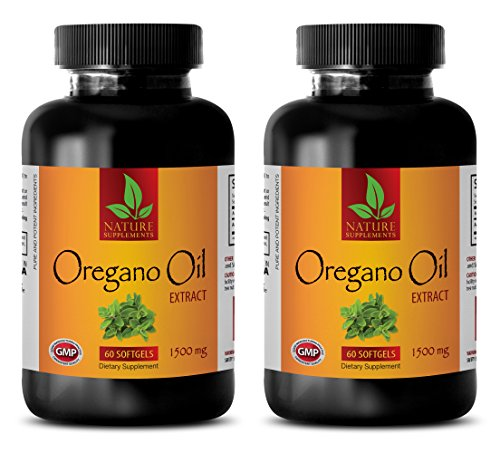 Oregano Oil 120 Cap (Digestion system - NATURAL OREGANO OIL EXTRACT 1500MG - Oregano oil gel caps - 2 Bottle (120 Capsules))