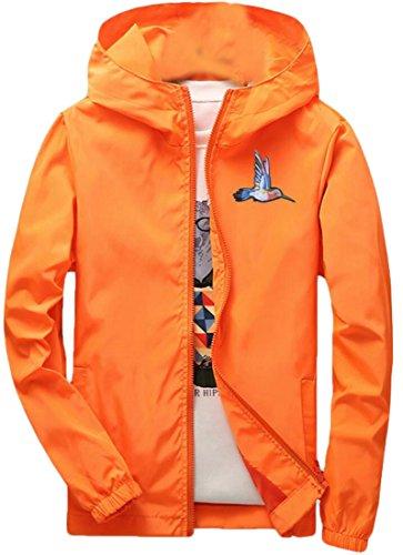 Gocgt Men's Stylish Long Sleeve Hooded Zip Windbreakers Jacket 3