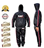 RAD Heavy Duty Sweat Suit Sauna Exercise Gym Suit Fitness, Weight Loss Anti Rip, with Hood