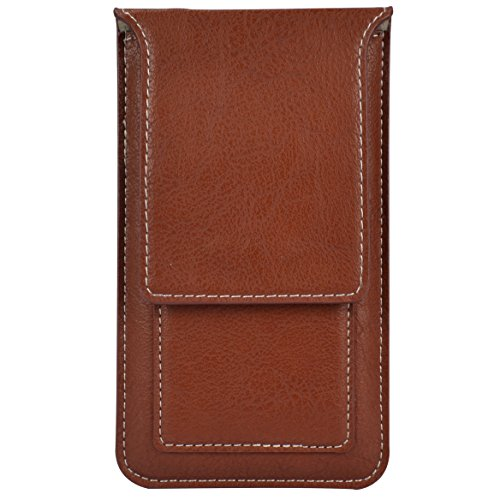 PU Leather Universal Cellphone Sleeve Waist Pack for Apple iPhone 8/7 / 6S / Xiaomi Redmi 4X / Note 4X / ZTE Jasper/Majesty Pro/Tempo (Brown) by SumacLife