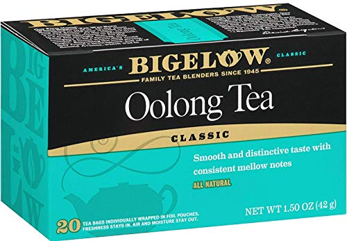 Bigelow Oolong Tea Bags 20-Count Boxes (Pack of 6), 120 Tea Bags Total. Caffeinated Individual Black Tea Bags, for Hot Tea or Iced Tea, Drink Plain or Sweetened with Honey