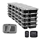 Review for 25 SZUAH Meal Prep Containers - 2 Compartment Food Prep Cont... - Eva Connover - Blog Booster