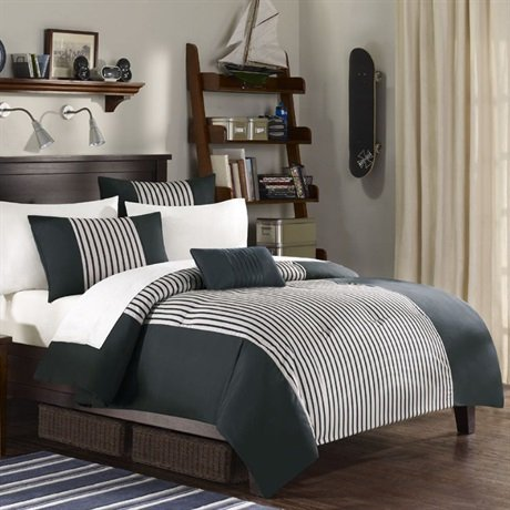 Madison Park MP10-923 Quinn 7Piece Comforter Set King , Grey, King,Grey,King