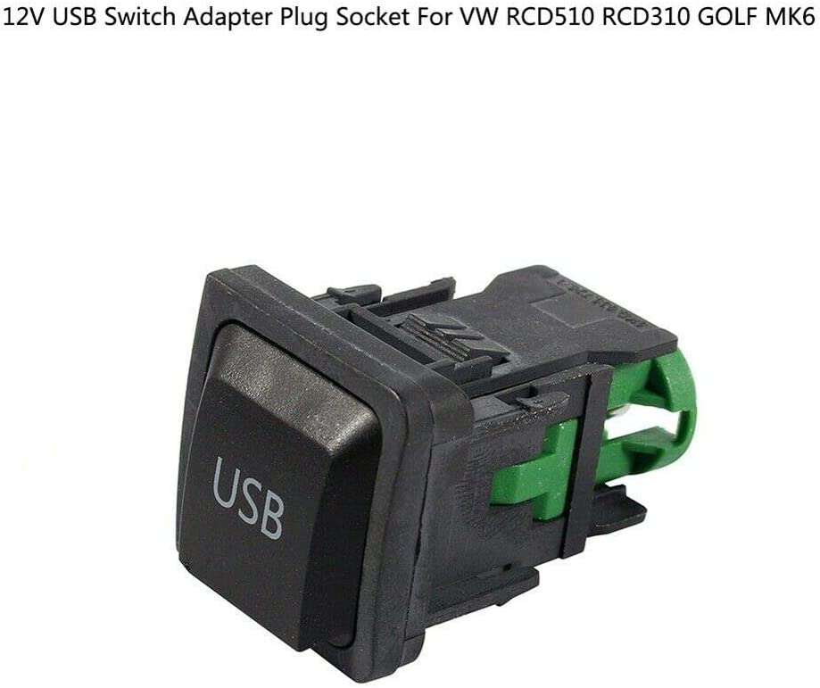Baaqii 12v Usb Switch Adapter Steckdose Fit Für Volkswagen Vw Rcd510 Rcd310 Golf Mk6 Auto