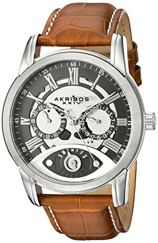 Akribos XXIV Men's AK725BR Analog Display Japanese Quartz Brown Watch