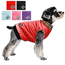PAWZ Road Dog Jacket Cat Coat With Velcro For Small and Medium Pets Red XS