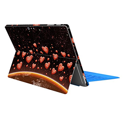 ProElife Exquisitely Colorful Cover Protector Skin Sticker Decal for Surface Pro 4 (Hearts as Balloon)