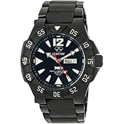 REACTOR Men's 'Gamma TI' Quartz Titanium Automatic Watch, Color:Silver-Toned (Model: 52501)