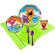 Monsters Childrens Birthday Party Supplies - Tableware Party Pack (24)