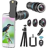 Telephoto lens kit, 4 in 1 Cell Phone Camera Lens, 12X...