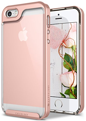 Price comparison product image iPhone SE Case, Caseology [Skyfall Series] Transparent Clear Slim Protective Scratch Resistant Air Space Technology [Rose Gold] for Apple iPhone 5/5S/SE
