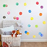 Amaonm Removable 27 Pcs 2.75' 7cm Vinyl Colorful Multi Color Dots Wall Decor Decal Dot Peel and Stick Wall Stickers Decals DIY Polka Dots Circles Wall art Decor for Nursery Kids room Bedroom