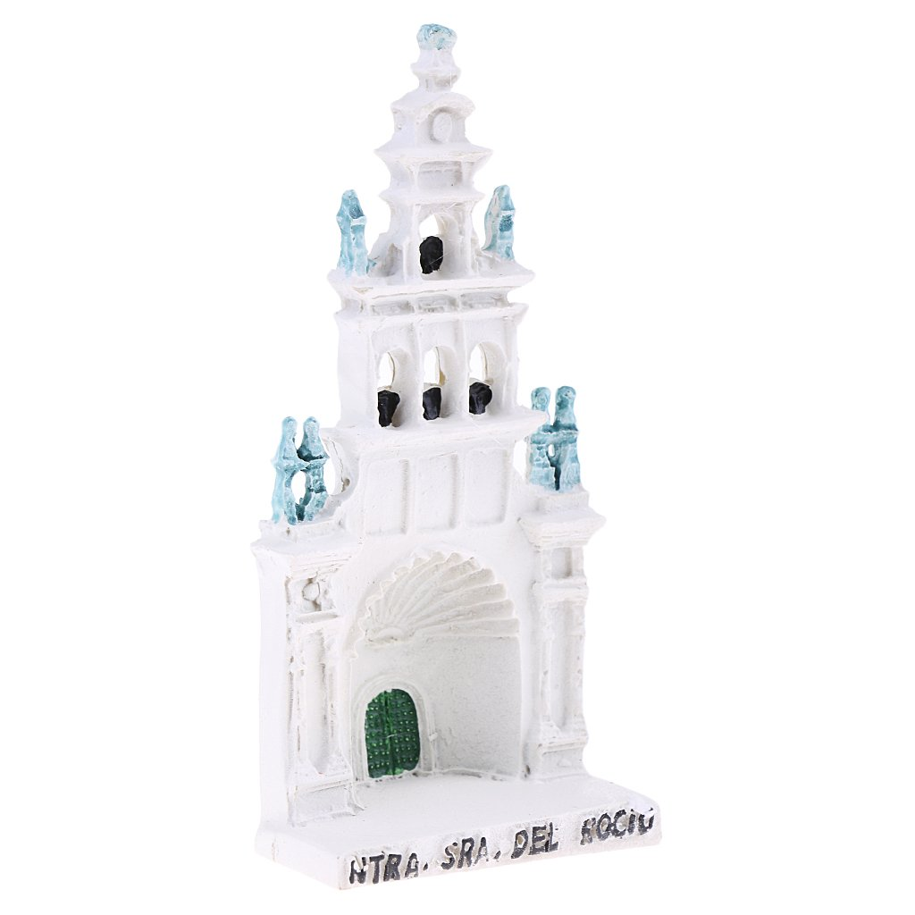 Baoblaze Resin Rossio Cathedral Miniature for Sand Table Garden Diorama Scenery Layout Accessory
