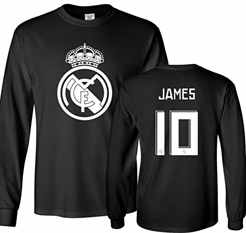 Tcamp Real Madrid Shirt James Rodriguez #10 Jersey Men's Long Sleeve T-shirt