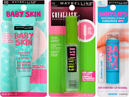 Maybelline New York NY Minute Makeup Kit, No Makeup Makeup Kit, Primer Gloss Mascara Makeup Set by Maybelline New York (Image #3)