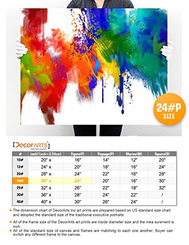DECORARTS Colorful paint Abstract Wall Art, Giclee Prints abstract modern canvas wall art for Home Decor and Wall Decor. 30x24 x 1.5