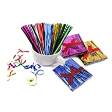 800PCS 10cm Length Metallic Twist Ties-Craft Cellophane Bags Sealers for Wedding Cookie Gift Candy Buffet Supply(Blue)