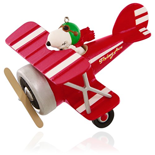 Hallmark Keepsake Ornament: Peanuts Flying Ace Snoopy's Red Plane by Hallmark