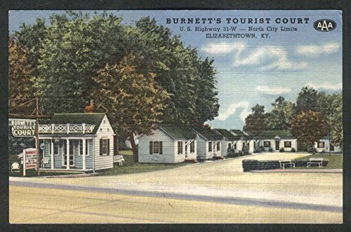 Burnett's Tourist Court US Highway 31-W Elizabethtown KY postcard - Us Highway 31