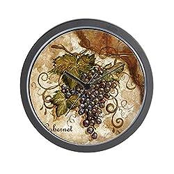 CafePress Grape Wall Clock Unique Decorative 10 Wall Clock
