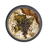 grapes wall clock - CafePress - Grape Wall Clock - Unique Decorative 10