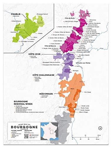 (Wine Folly France: Burgundy Wine Map Poster Print, 12