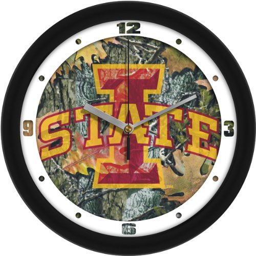 SunTime NCAA Iowa State Cyclones Wall Clock - - State Clock Wall Cyclones Iowa