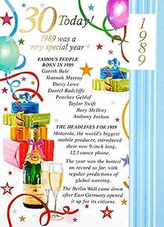 Simon Elvin 2019 30th Male Birthday Card