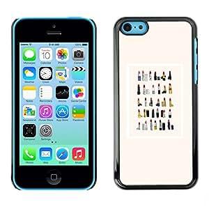 TopCaseStore / la caja del caucho duro de la cubierta de protección de la piel - Collection Watercolor Fashion - Apple iPhone 5C
